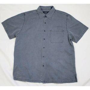 Nat Nast Short Sleeve Button Silk Cotton Shirt